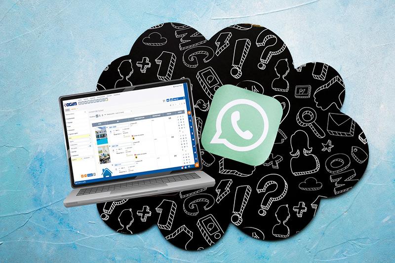 Invio messaggi e schede immobili tramite WhatsApp da Agim